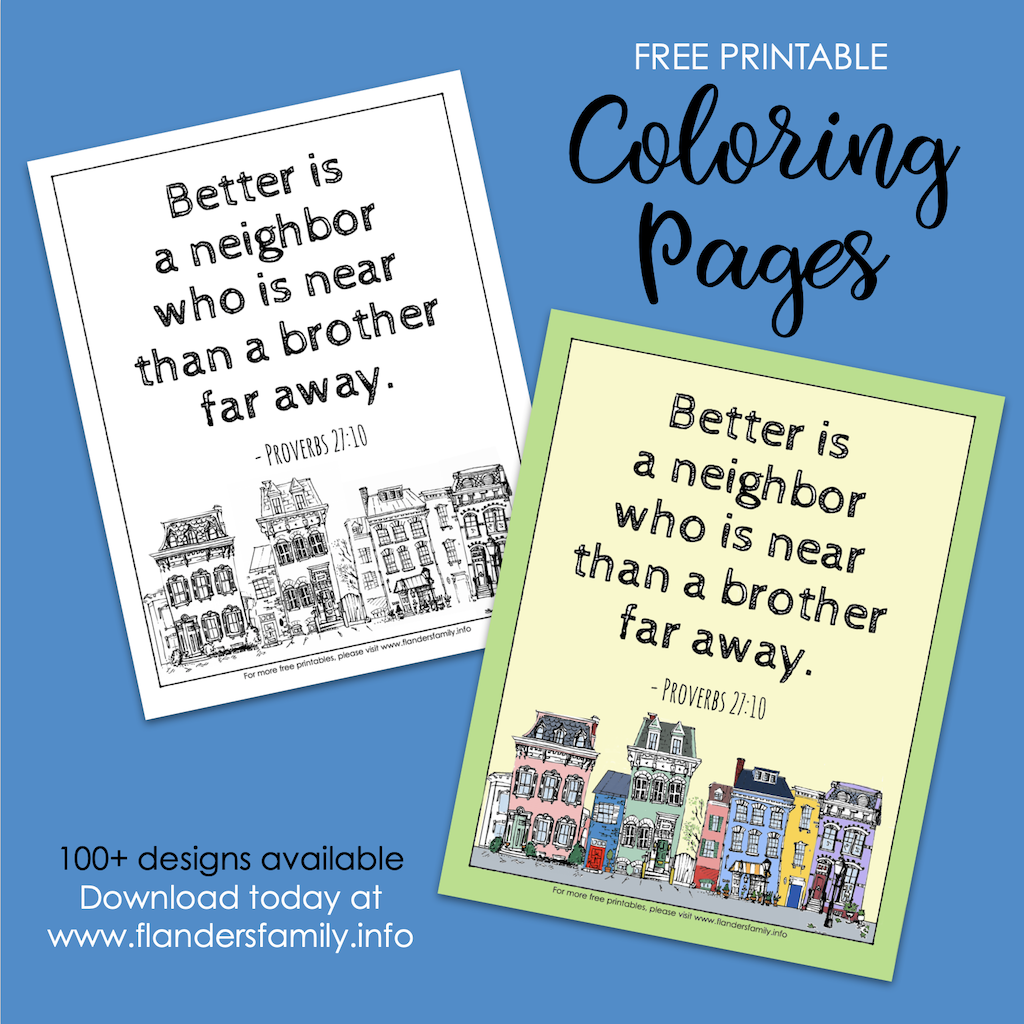 Good Neighbor Coloring Page