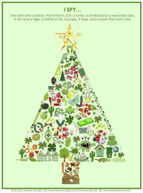 This is an image of Genius Christmas I Spy Printable