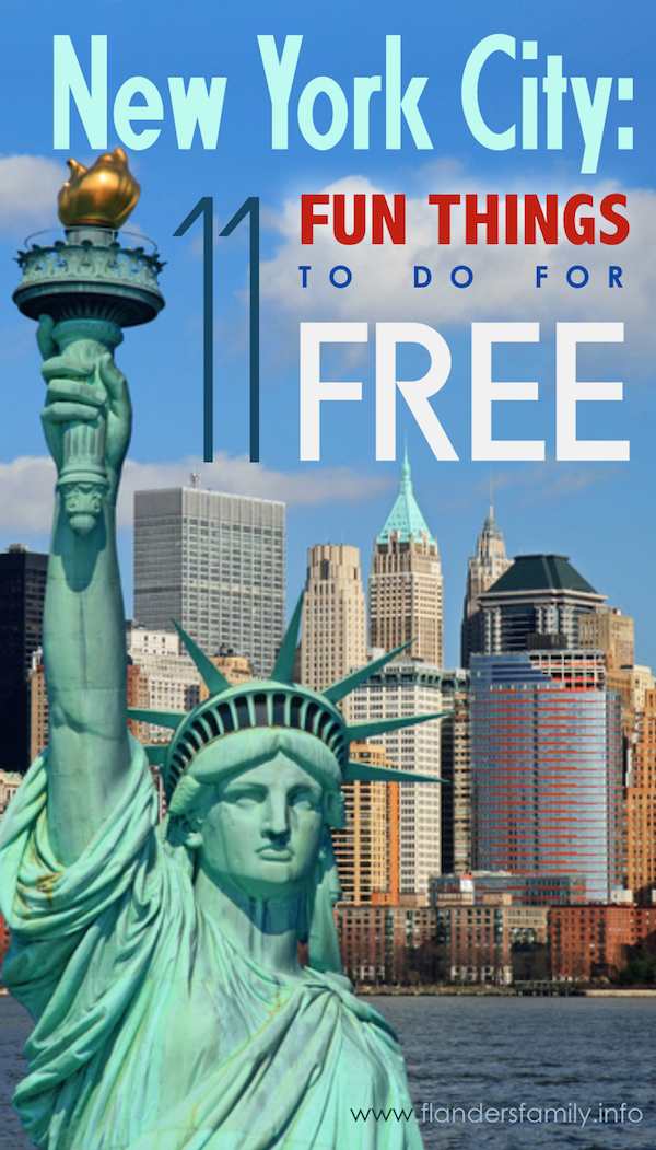 11 fun things to do in new york for free flanders family for Family things to do in nyc
