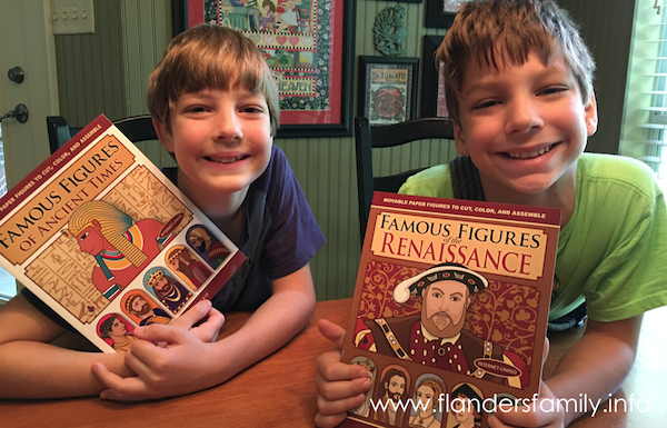 """Famous Figures"" book series  -- great activity for reinforcing what we're learning in history!"