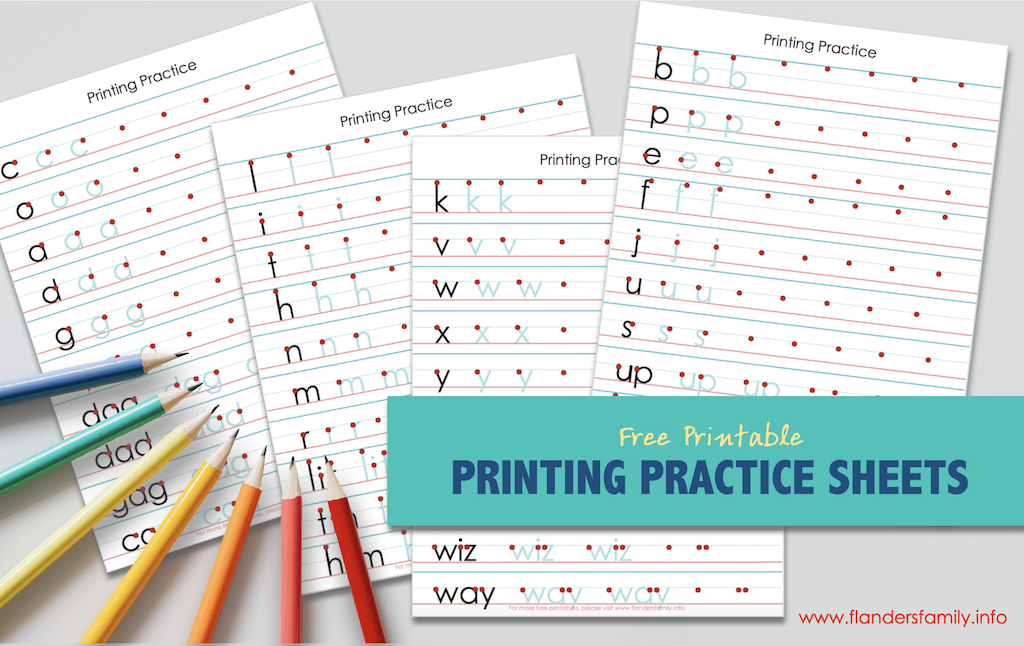 Free Printing Practice Sheets