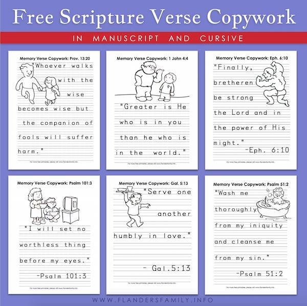 Mailbag: Scripture Copywork in Manuscript
