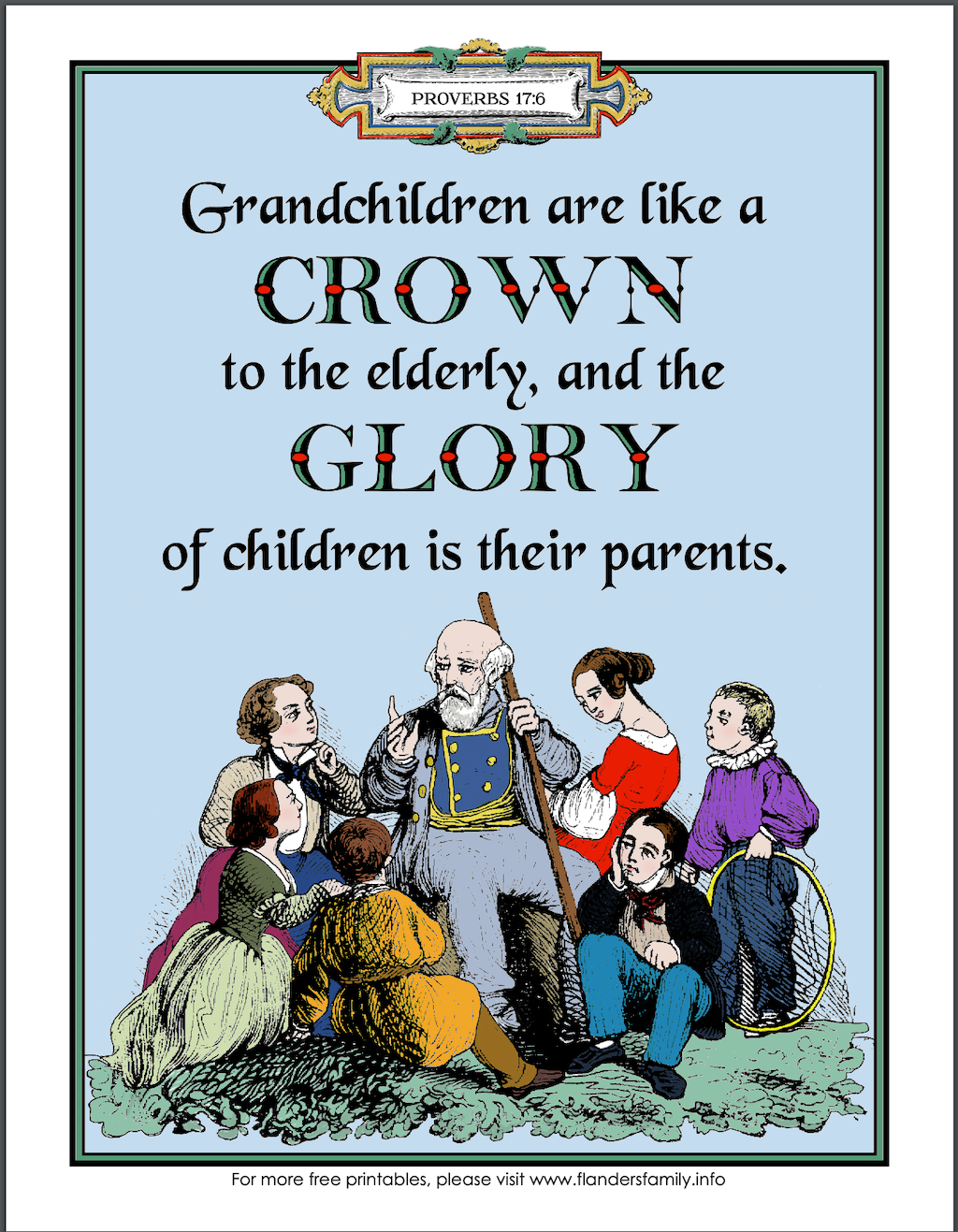 Grandparents Day Coloring Page