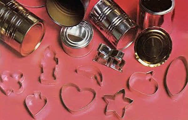 Homemade Cookie Cutters from recycled tin cans