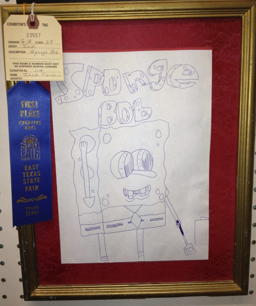 Spongebob is a recurring theme with our family in the State Fair Creative Arts Contest .