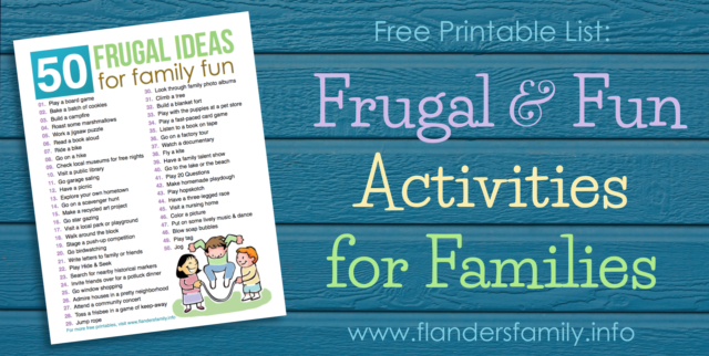 50 Frugal Ideas for Family Fun