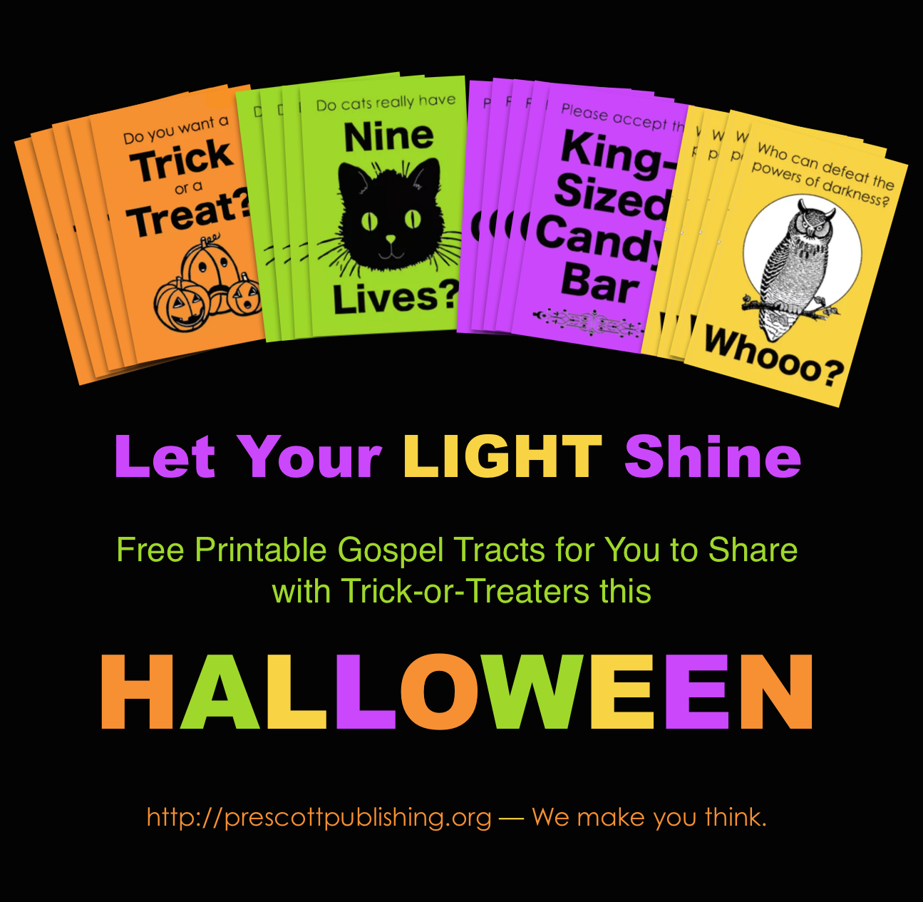 Mailbag: Free Printable Trick-or-Treat Tracts