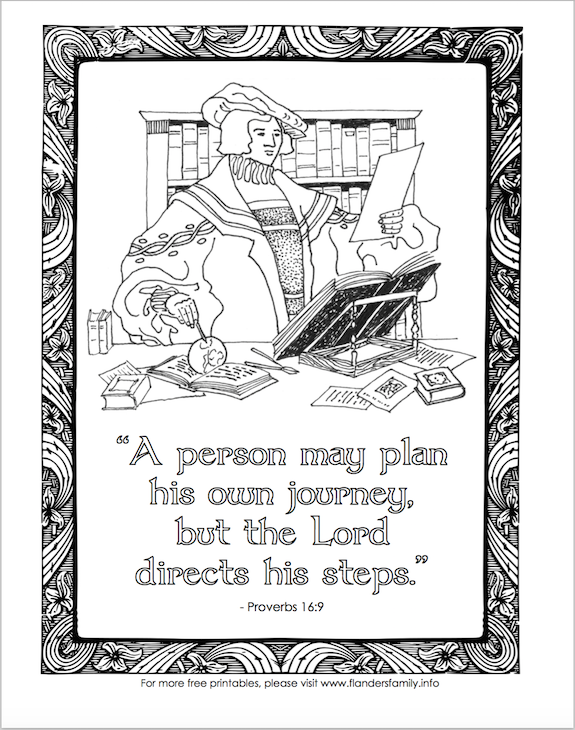 Man's Plans and God's Guidance (Coloring Page)