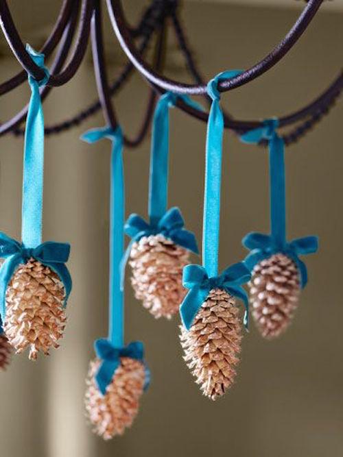 decorating with pine cones