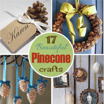 Pinecone Crafts: 17 of the Prettiest Projects Ever