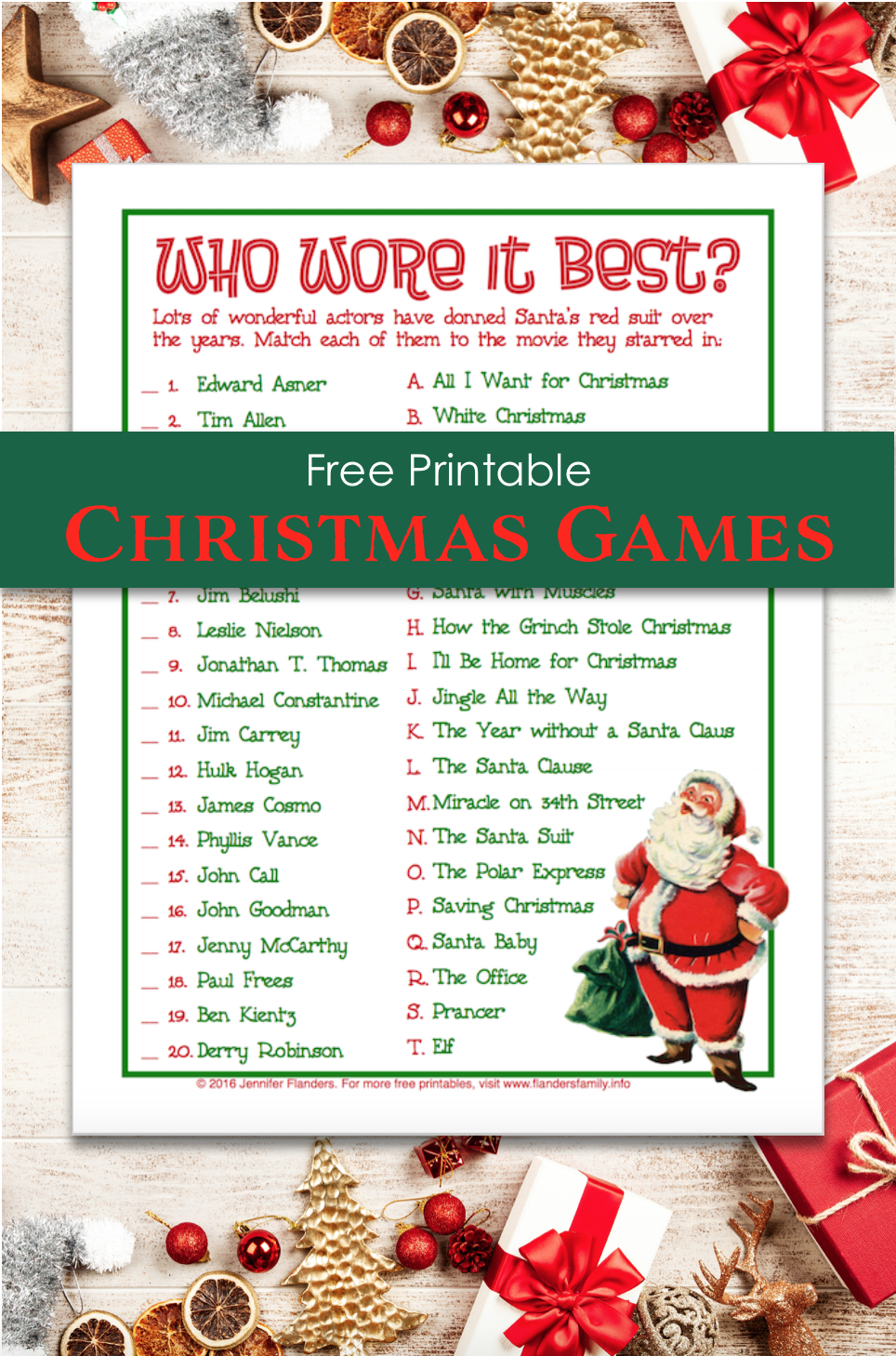 photograph about Printable Christmas Games With Answers called Who Wore It Suitable? (Totally free Printable Xmas Recreation) - Flanders