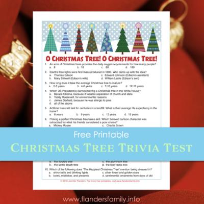 Christmas Tree Trivia Test (Free Printable)