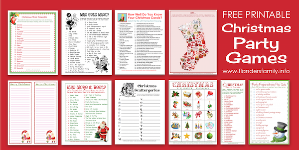 Visit www.flandersfamily.info to download lots of free printable #Christmas #Party #Games