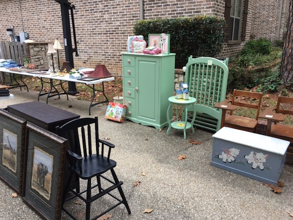 Garage sale - parting with priceless treasures