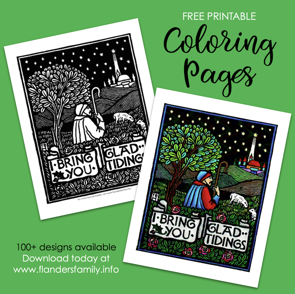 Glad Tidings Coloring Page
