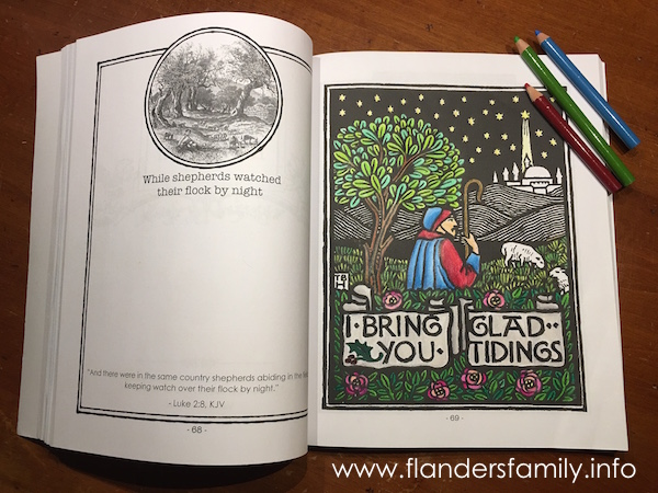 Free Christmas-themed coloring pages from www.flandersfamily.info