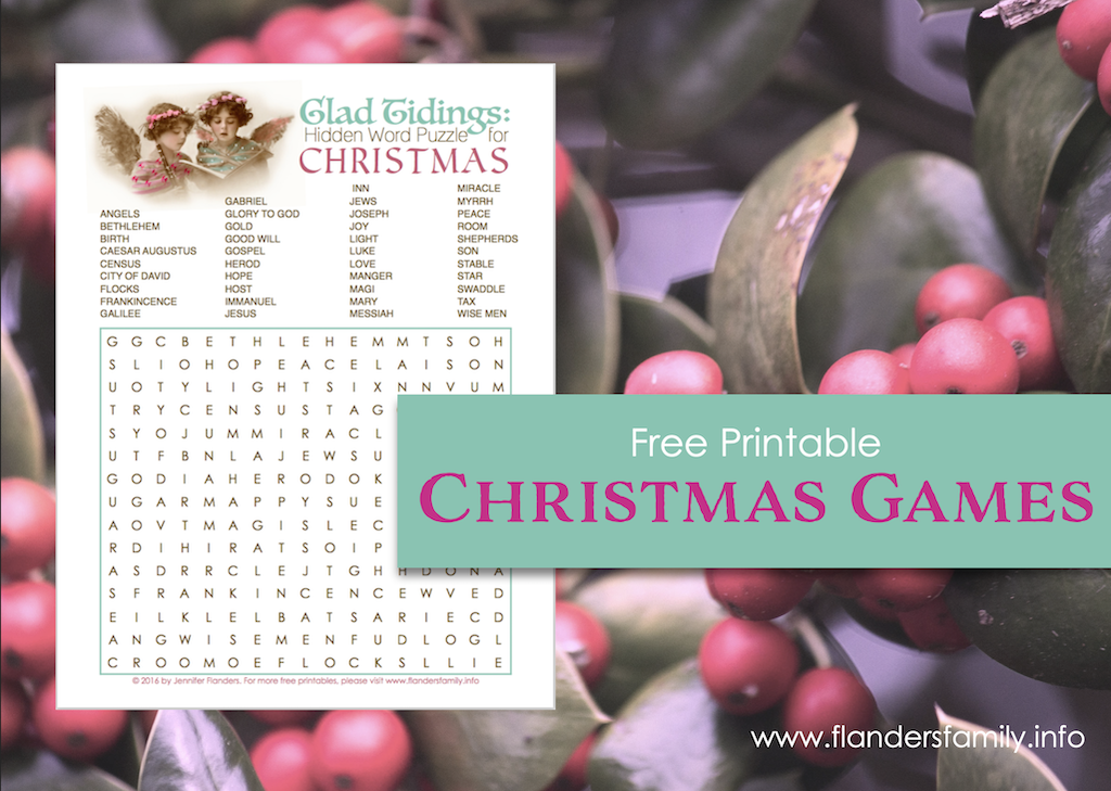 Glad Tidings Word Find Puzzle