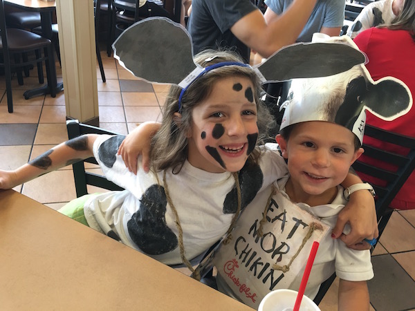 Abby and Grayson on Cow Appreciation Day