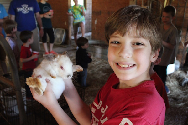 Gabriel with a bunny