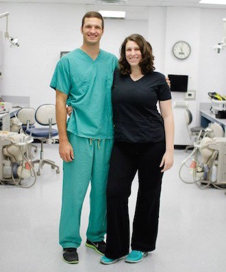 Bethany & David, 2 years before they graduated from Dental School