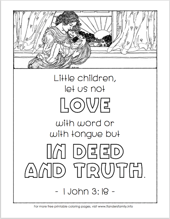 Free printable, scripture-based coloring pages from www.flandersfamily.info -- a new design published every Sunday!