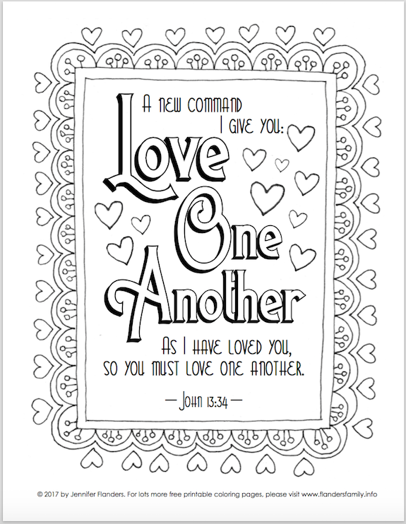 Coloring pages for Valentine's Day from www.flandersfamily.info