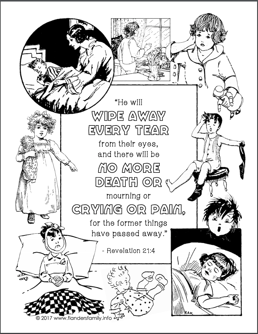 No More Tears Coloring Page