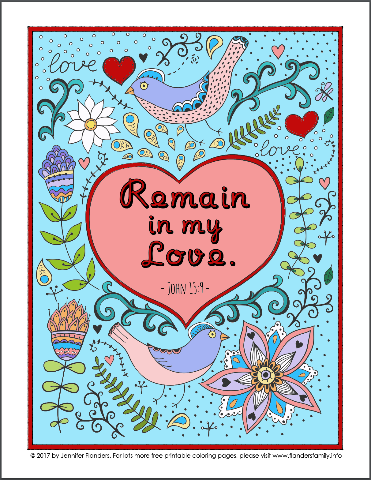 Remain in My Love Coloring Page