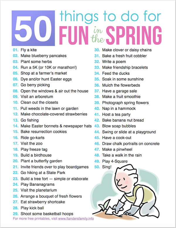 Free printable bucket list for spring from www.flandersfamily.info