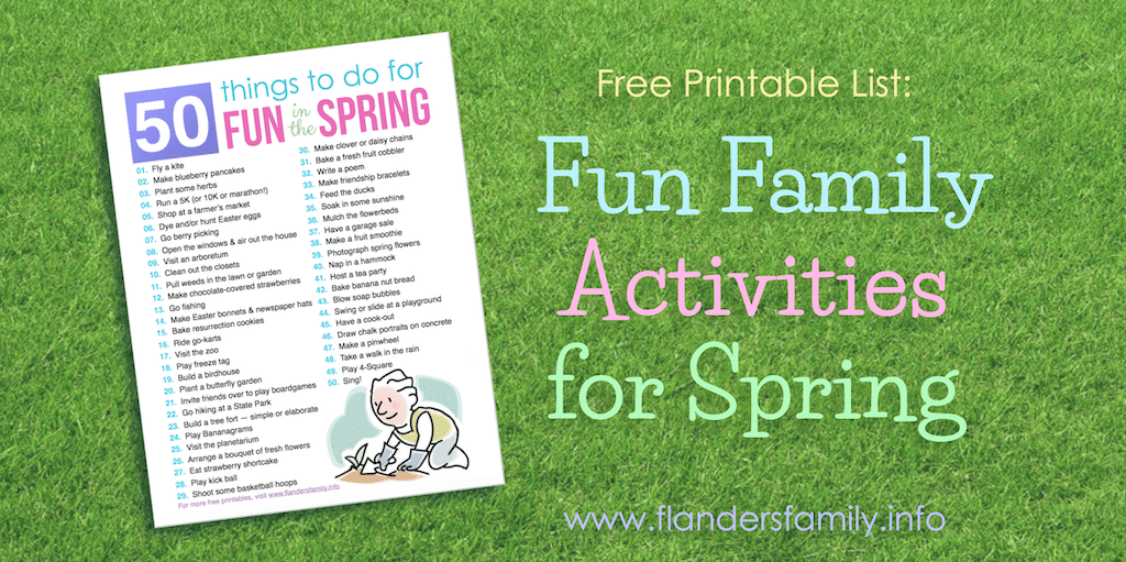 50 Fun Things for Spring
