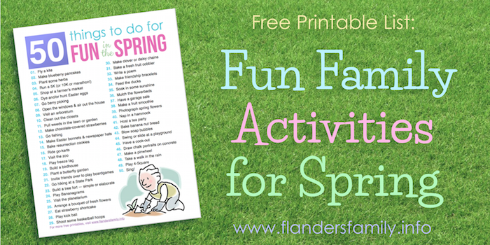 50 Fun Ideas for Spring (Free Printable)