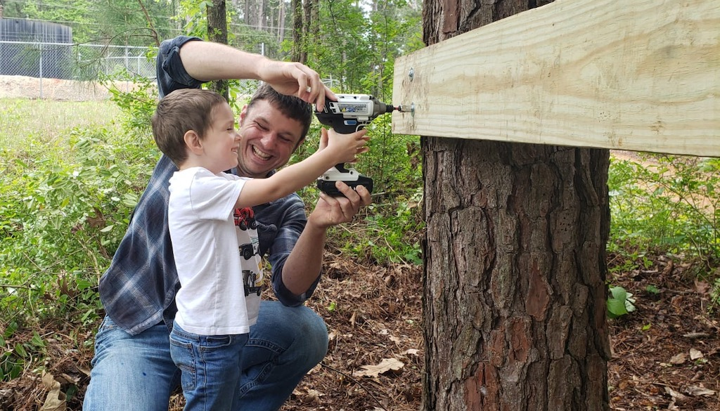 50 Fun Ideas for Spring: Build a Tree Fort