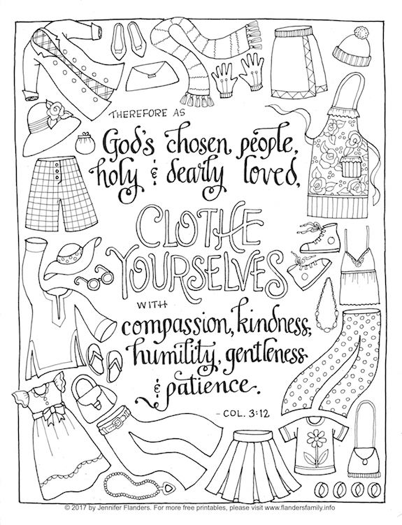 Clothe Yourself with Humility (Coloring Page)