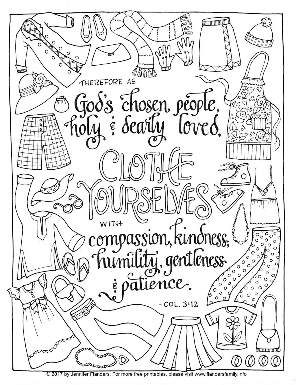 Clothe Yourselves with Humility Coloring Page