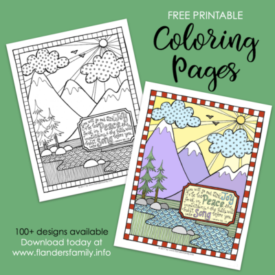 Go Out with Joy (Coloring Page)