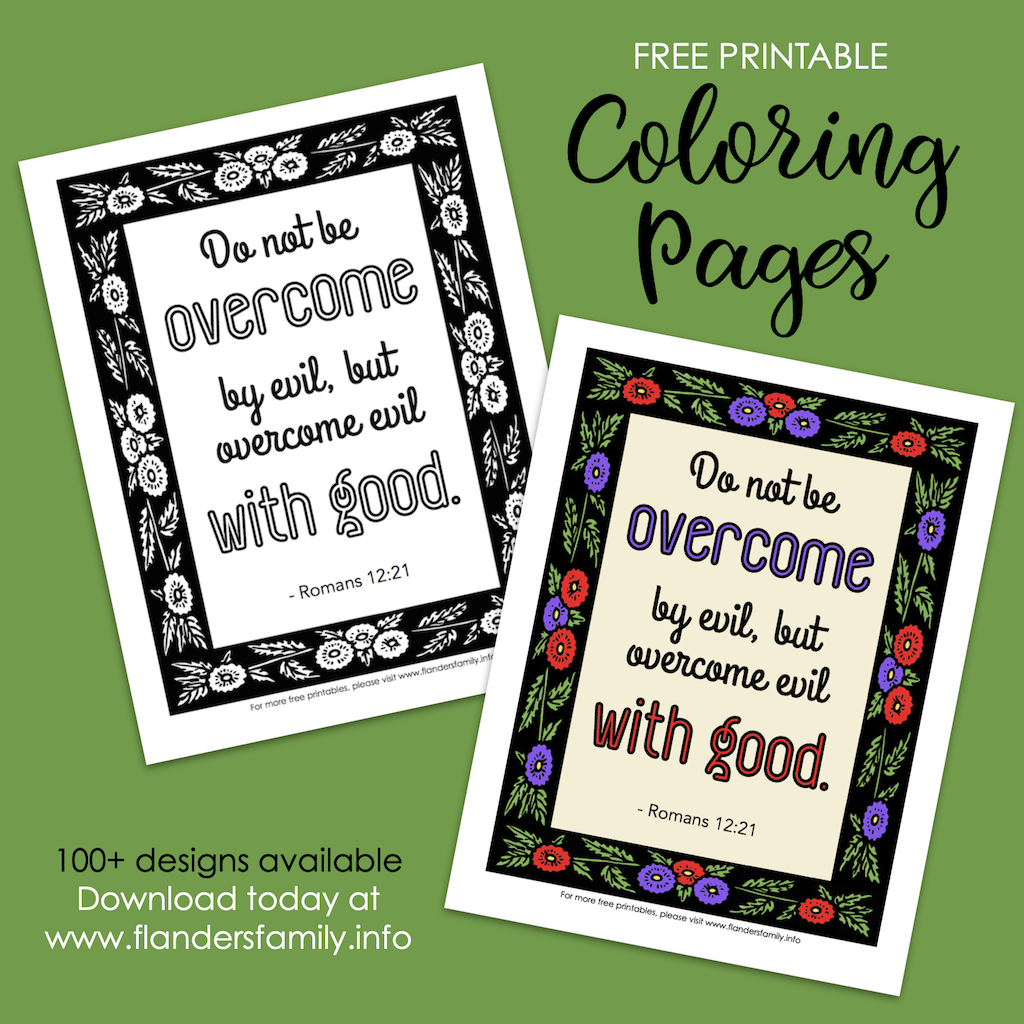 Overcome Evil with Good Coloring Page