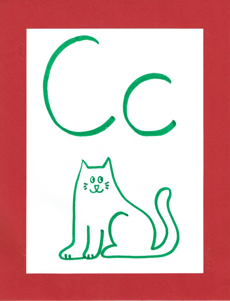 Free Printable Alphabet Cards to Post on Your Wall   www.flandersfamily.info