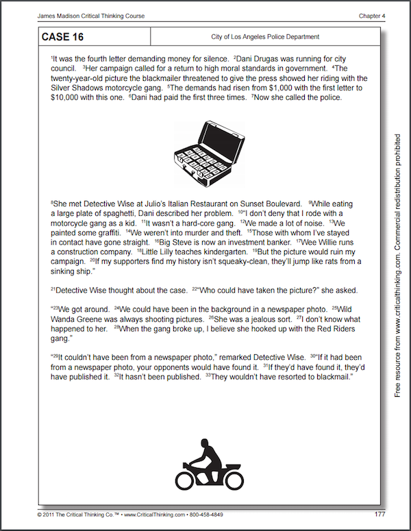 Critical Thinking Course - Sample Page