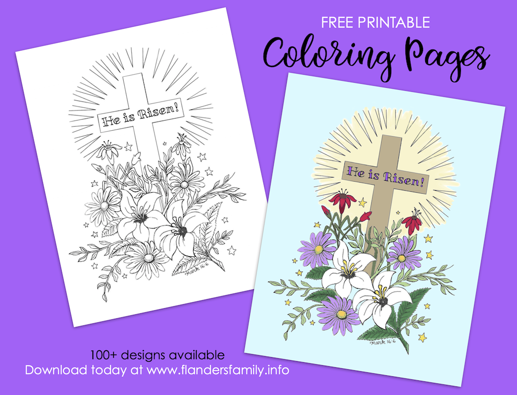 He Is Risen! Coloring Page