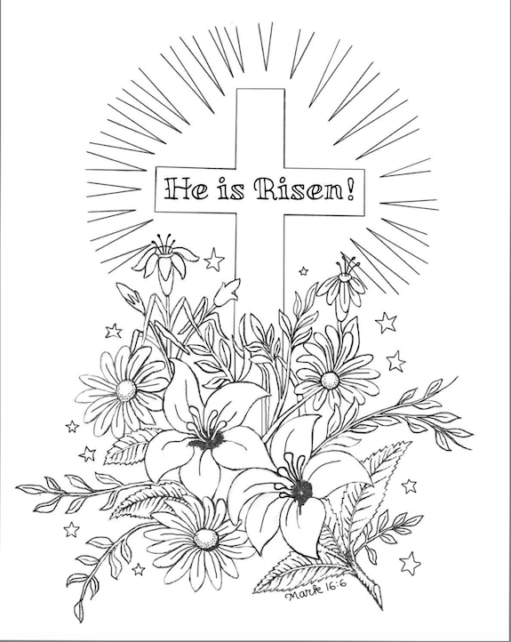 He Is Risen! (Coloring Page)