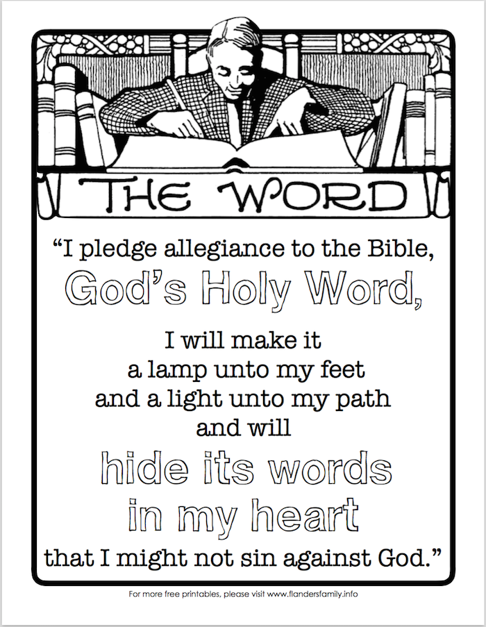 Free Printable: Pledge of Allegiance to the Bible