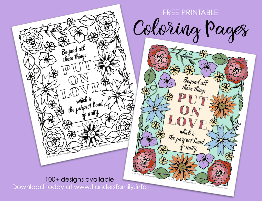 Put on Love Coloring Page