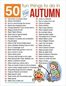 Free printable bucket list for fall