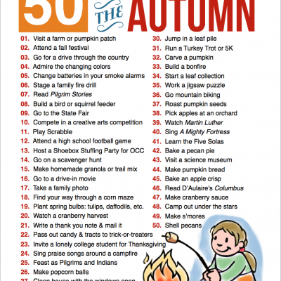 50 Fun Family Activities for Fall (Free Printable)