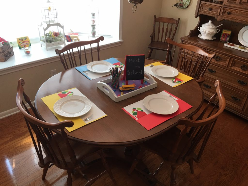 Fun way to set the table for Back-to-School