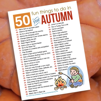 50 Fun Activities for Fall (Free Printable)