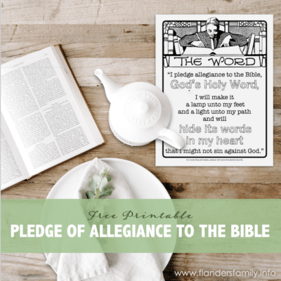 Pledge of Allegiance to the Bible