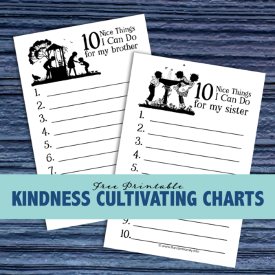 Teaching Kids Kindness (Free Printable)