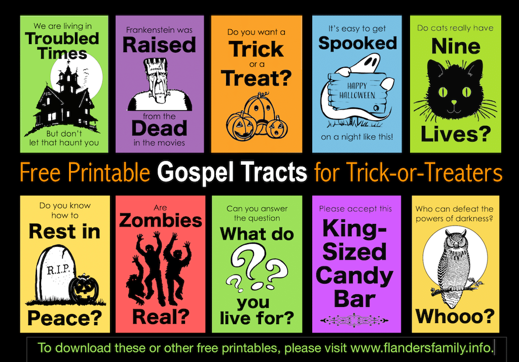 Free Printable Tracts for Trick-or-Treaters
