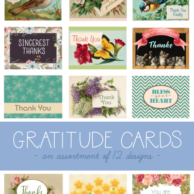 Take Time to Say Thanks! (Free Printable Cards)
